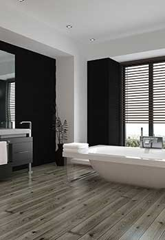Bathroom Faux Wood Blinds In Corte Madera